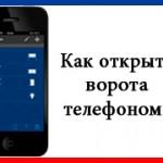 Современные ворота и телефон.