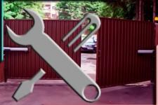 Ремонт и обслуживание распашных ворот в Балашихе.