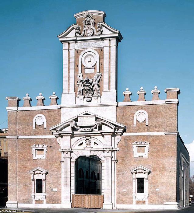 ФОто Римских ворот Порта Пиа. Фото из статьи об откатных воротах на сайте https//:csba-service.ru