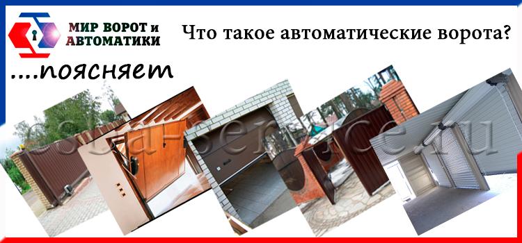 Фото автоматических ворот