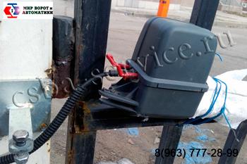 Фото испорченного привода ворот. Ремонт приводов ворот в Балашихе